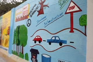 School Wall Painting by IAK