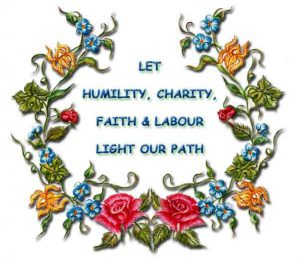 Let Humility, Charity, Faith & Labour Light Our Path
